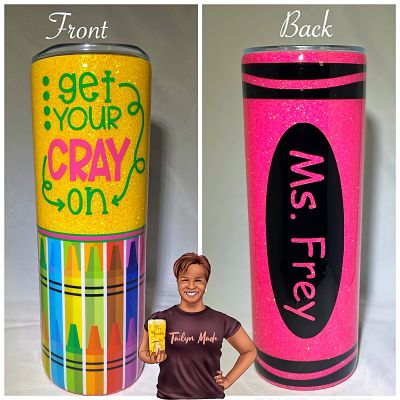 Get Your Cray On Glitter Glam Tumbler