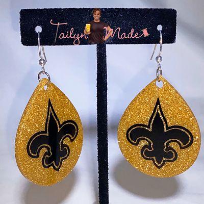 **ANY DESIGN**Ladies Women Glitter Glam Custom Earrings