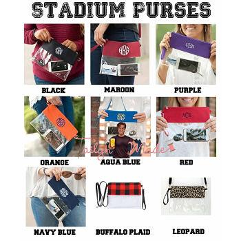 Clear Stadium Purse