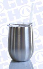 12oz Stemless Wine StainlessTumber w/straw