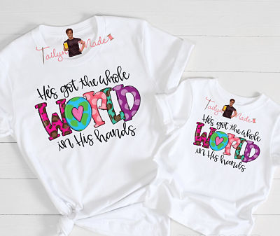 Adults-He's Got the Whole World In His Hands T-Shirt