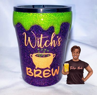 3D Witch's Brew 10oz tumbler