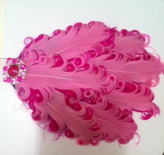 Hot Pink Feather Headband