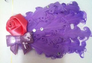 Purple and Pink Headband with Rhinestones