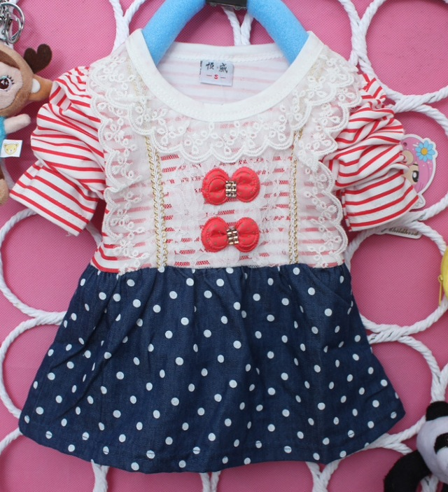 Baby Girls Stripe Rhinestone Top